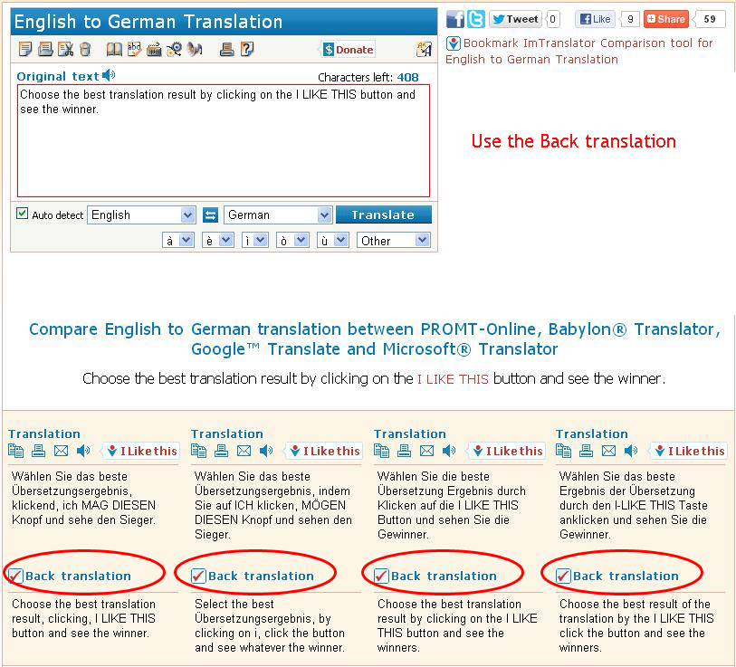 Compare Translations