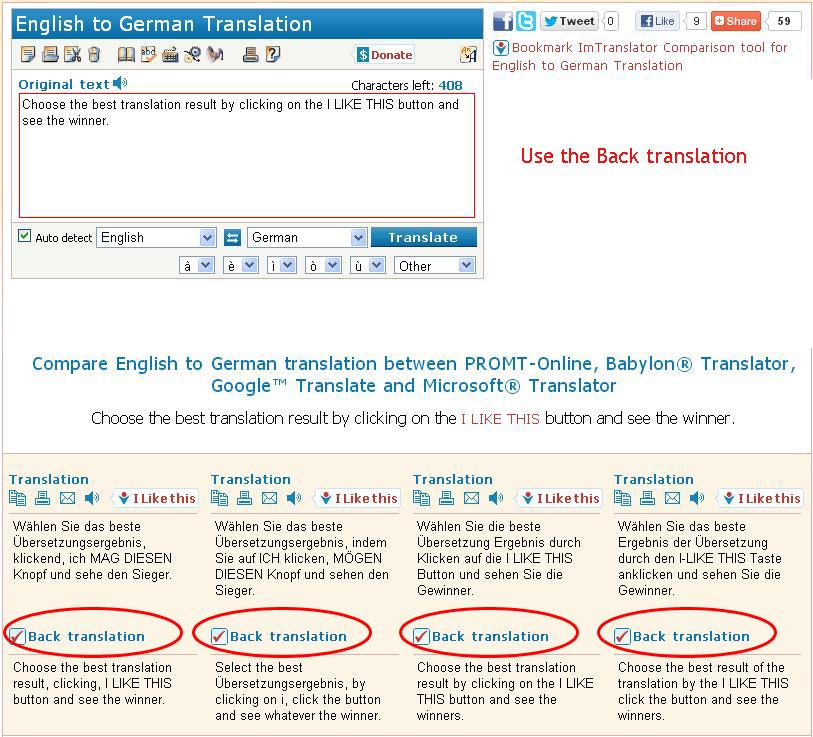 Compare Translations