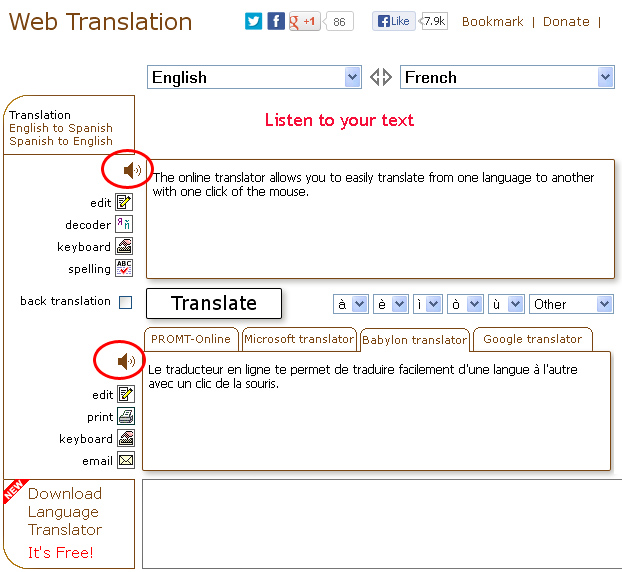 English To Italian Translator Google: Web Translation