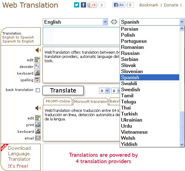 Web Translation | ImTranslator