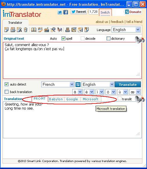 ... French. Detect language. English. Spanish … Google Translate for