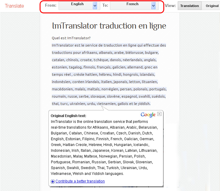 Web Page Translation
