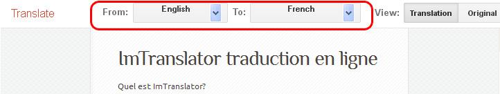 how to translate a web psge