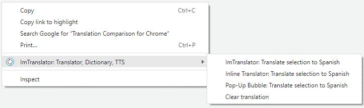 Chrome-Context-menu