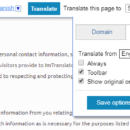 Webpage Translation New Features