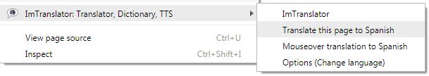 Chrome-Webpage-Context-menu