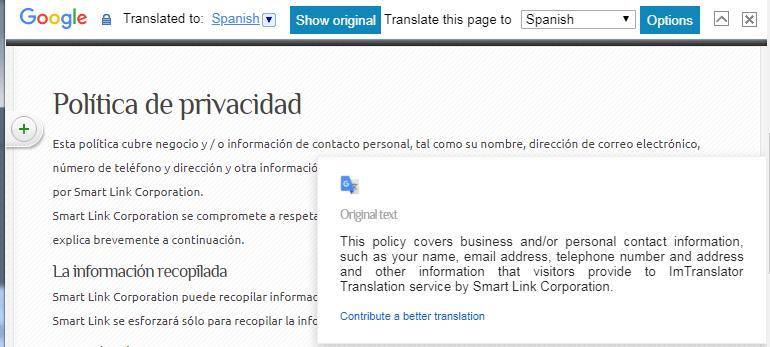 Webpage-Translation