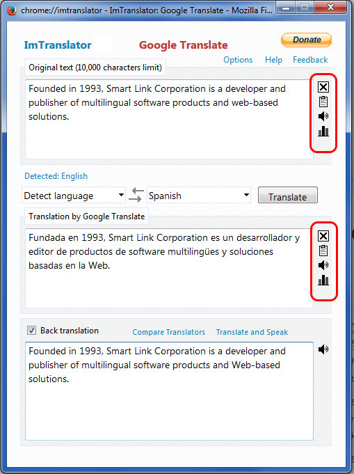 ImTranslator Google Translate Tools