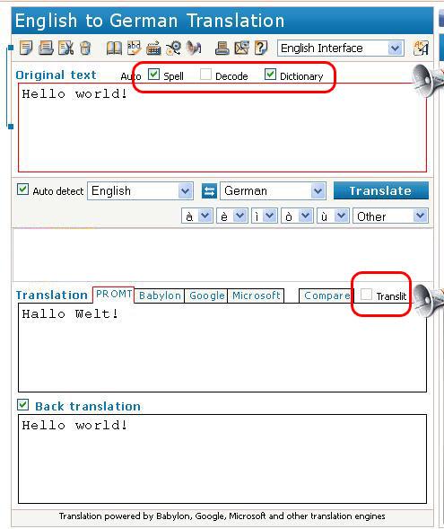 Auto Language Options