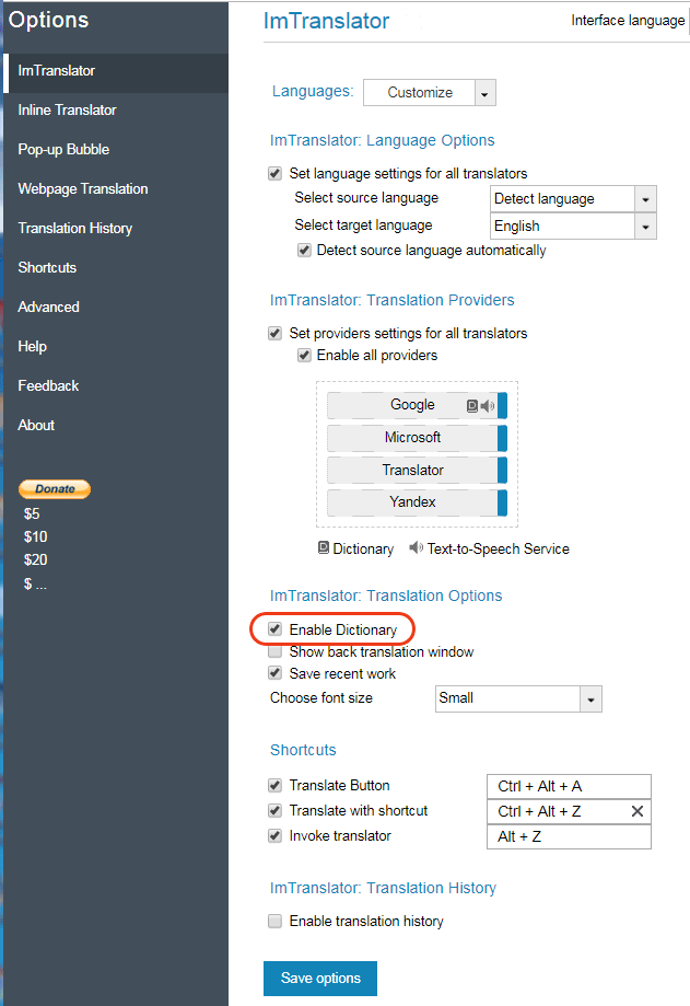 Chrome-ImTranslator-Options-Enable-Dictionary