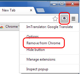 ImTranslator Button Remove from Chrome