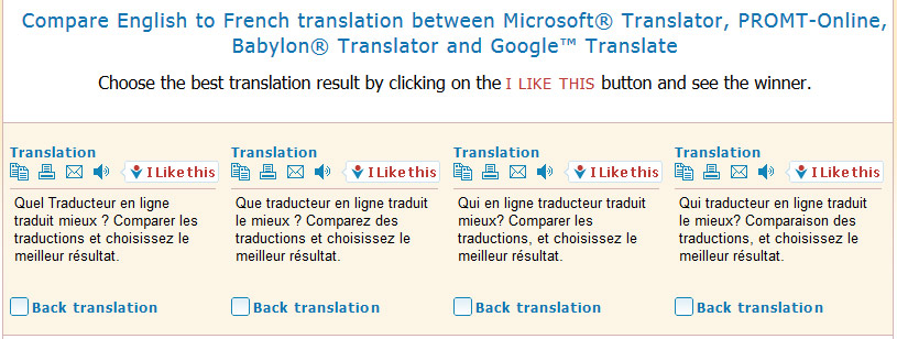 Compare Translators