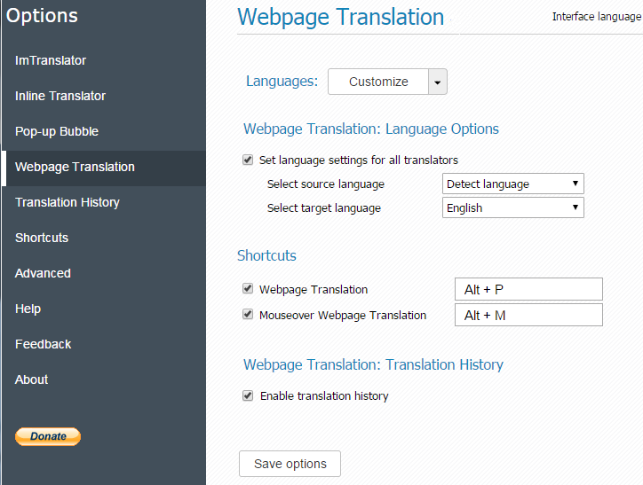 Chrome-Webpage-Translation-Options