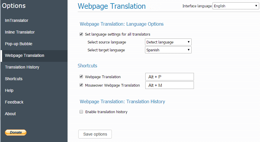 how to translate webpage on chrome