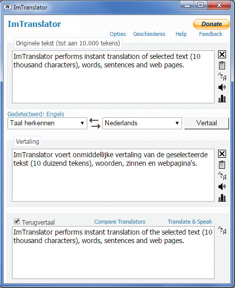 ImTranslator in Dutch