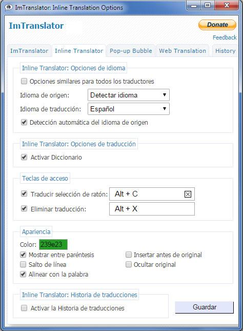 Imtranslator Traductor Diccionario Voz Imtranslator
