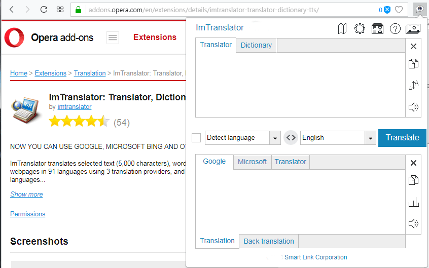 Opera-ImTranslator-extension-Installation