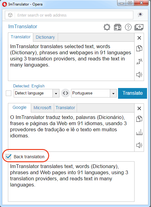 ImTranslator for Opera | ImTranslator