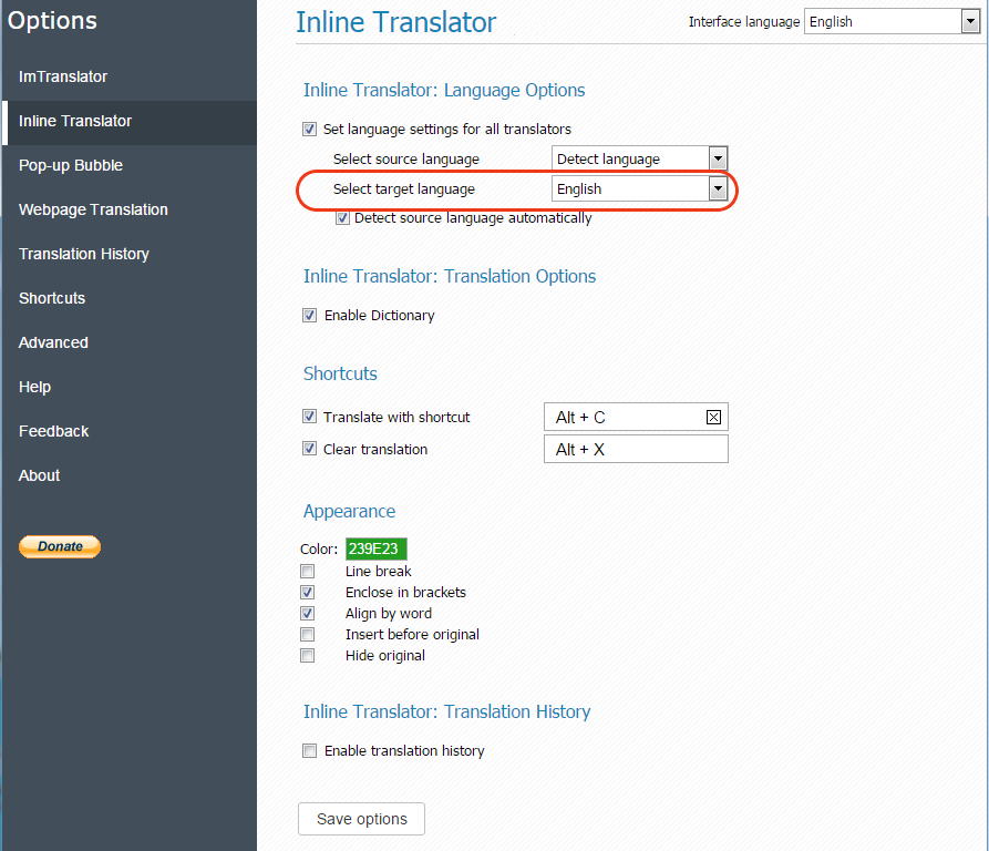 Opera-Options-Inline-Translator-Change-Language