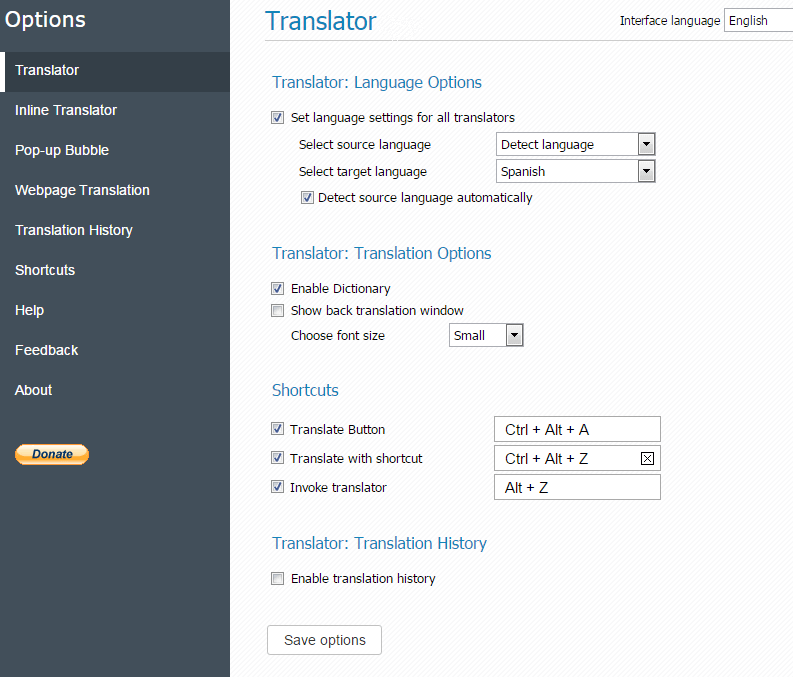GT-Translator-Options
