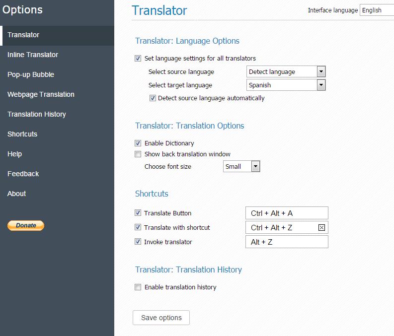 GT-Translator-Options