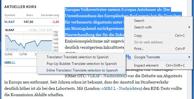 Google-Translate-Inline-translation