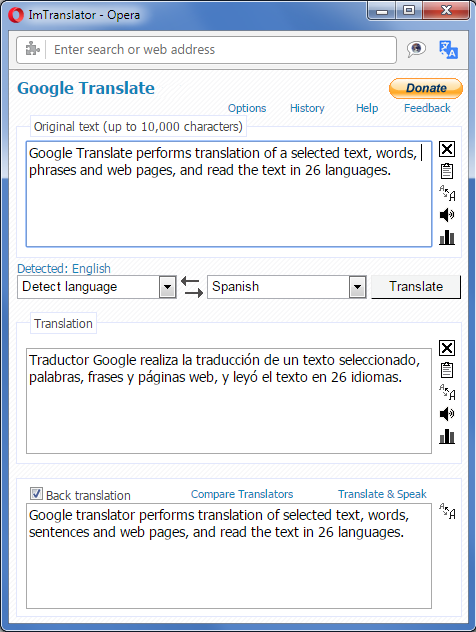 Google Translate For Opera Imtranslator