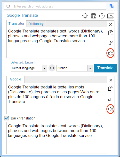 Google Translate for Opera | ImTranslator