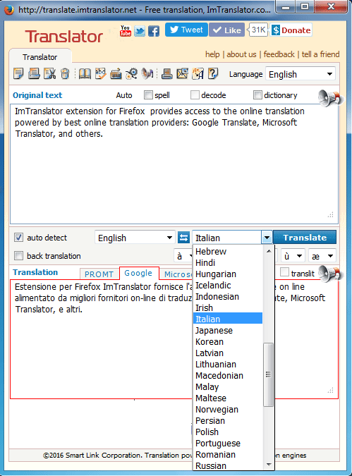 ImTranslator for Firefox | ImTranslator