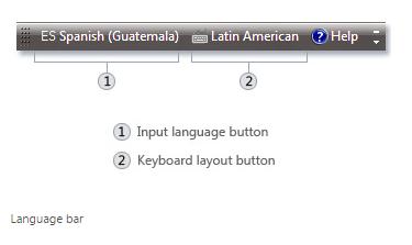 Language-bar