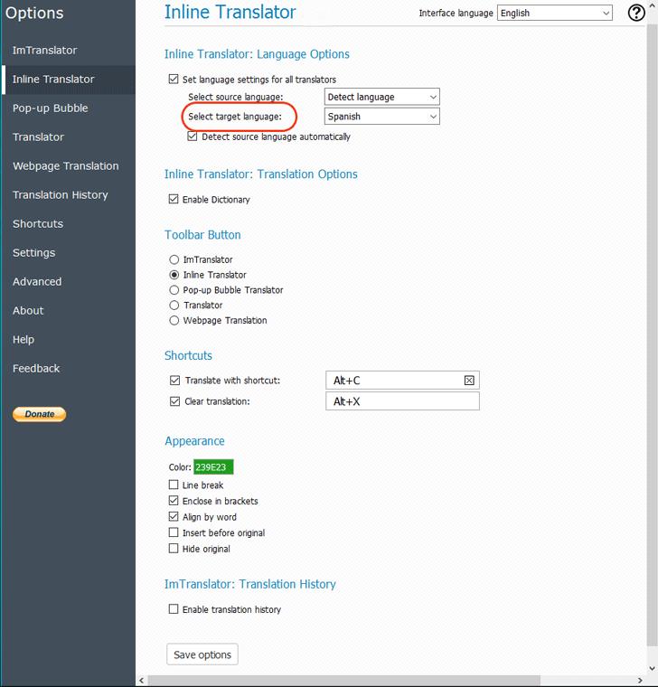 FF-Inline-Options-Target-Language