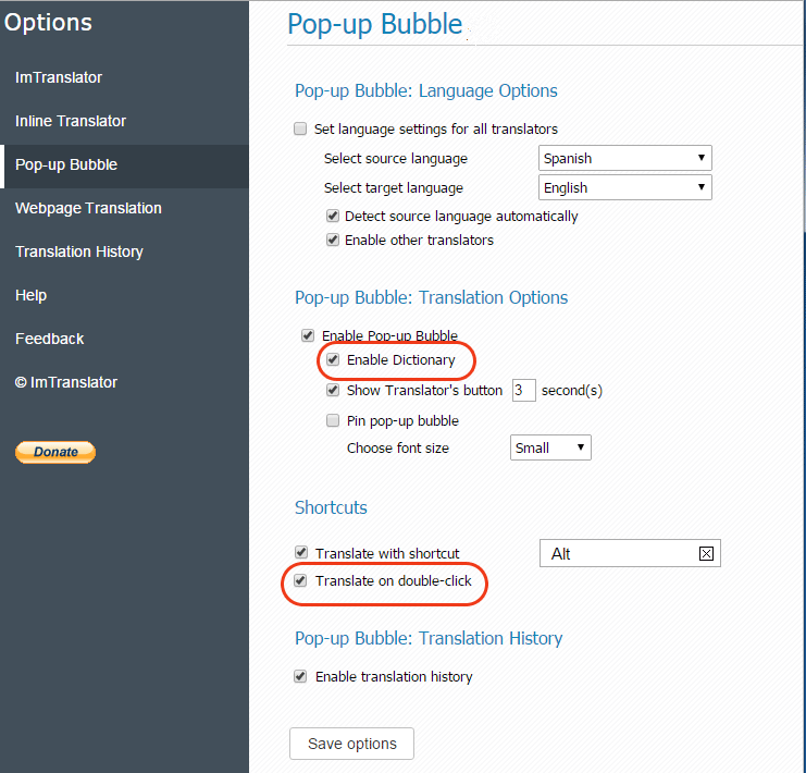 Pop-up-Bubble-Options-Enable-Dictionary