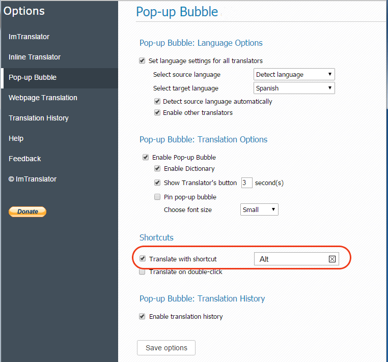 Pop-up-Bubble-Options-Shortcuts