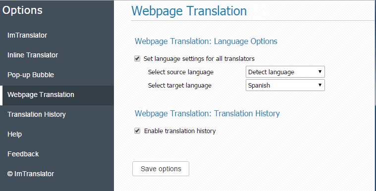 Web-Translation-Options