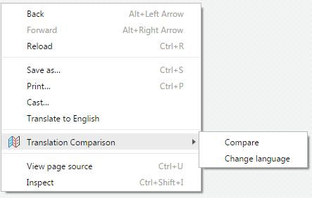 Translation-Comparison-Context-menu