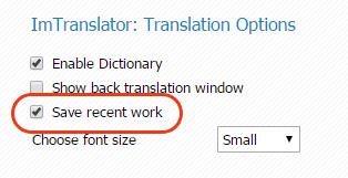 Chrome-ImTranslator-Save-Recent-Work