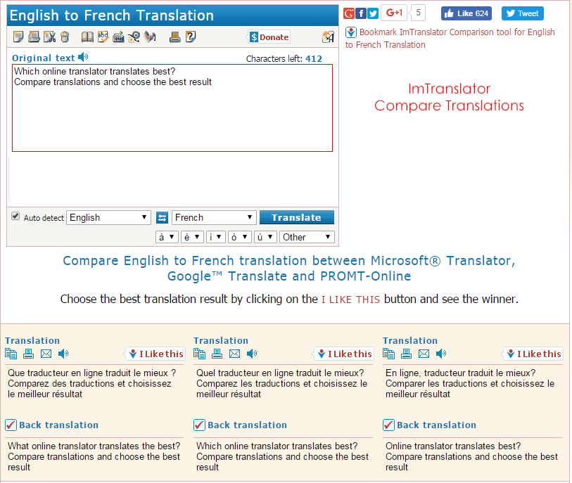 Compare-Translators