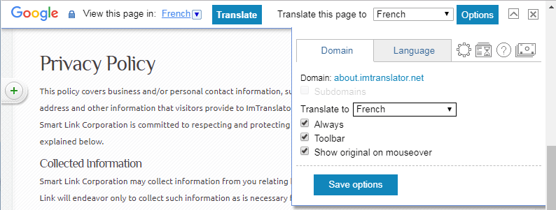 Chrome-Webpage-Translation-Domains